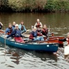 Messing about on the river with members of the local canoe club